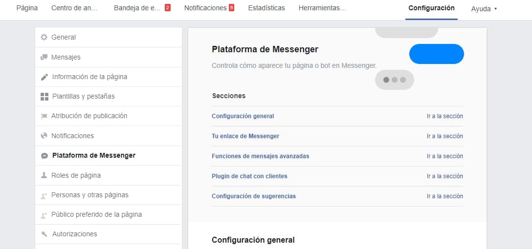 Cómo poner el Chat de Facebook en mi página web - Ingresa a la Fan Page de tu empresa o negocio